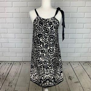 WHBM Sleeveless Black & White Silk Dress Size 4